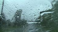 Rain drive 3 Stock Footage