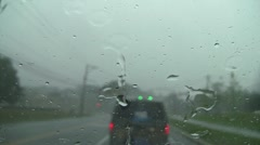 Rain drive 6b Stock Footage