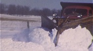 Snow Plow on Road Clears Snowy Winter Storm 1960s Vintage Film Home Movie  319 Stock Footage