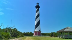 Cape Hatteras lighthouse 05 Stock Footage