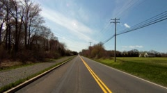 Rear view of road from car Stock Footage