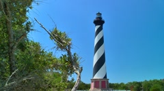 Cape Hatteras lighthouse 04 Stock Footage