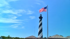 Cape Hatteras lighthouse Stock Footage