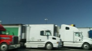 Stock Video Footage of truckstop two