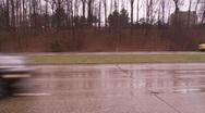 Wet highway Stock Footage