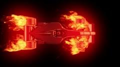 Fire race car 4 Stock Footage