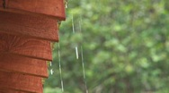 Rain Dripping Off Roof 2 Stock Footage