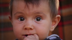 Baby Girl Portait - stock footage