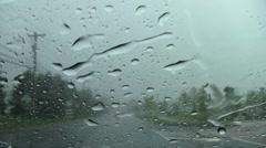 Rain drive 8 Stock Footage