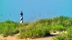 Cape Hatteras lighthouse 06 Stock Footage