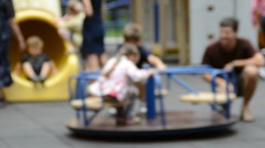 Children's playground Stock Footage