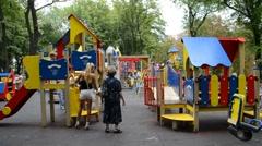 Children's playground - stock footage