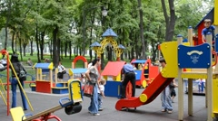 Children's playground - stock footage
