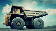 Stock Video Footage Mining Dump Truck huge dumper heavy track Stock Footage