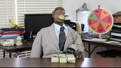 Financial Advisor Pockets the Cash Stock Footage