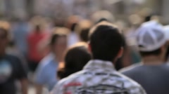 Unrecognizable crowd, people walking - stock footage