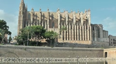 Cathedral of Palma de Majorca Stock Footage