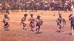 Native American INDIAN Ritual Dance POW WOW 1943 Vintage Film Home Movie  334 - stock footage
