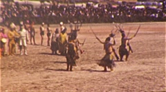 Native American INDIAN CEREMONY Hopi Zuni Dance 1940 Vintage Film Home Movie 335 Stock Footage