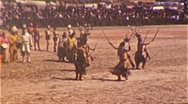 Stock Video Footage of Native American INDIAN CEREMONY Hopi Zuni Dance 1940 Vintage Film Home Movie 335