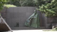 Roosevelt Memorial in Washington DC Stock Footage