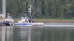 Fishing boats, Alaska Stock Footage