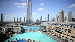 The Burj Khalifa, the tallest man made structure in the world, Dubai, UAE - stock footage