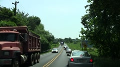 Police escort wide load Stock Footage
