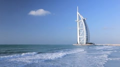 Burj Al Arab Hotel, Dubai, United Arab Emirates Stock Footage