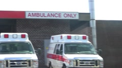 hospital ambulances and ER - stock footage