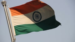 MVI 9667 INDIA FLAG Stock Footage