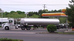 Gas tanker at station Stock Footage