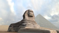 Great Sphinx Pan Stock Footage