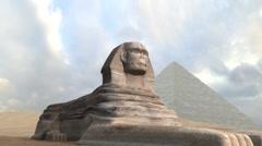 Great Sphinx Pan - stock footage