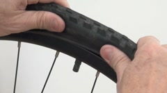 Repair Bicycle Puncture - stock footage