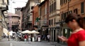 Bologna Street, Italian Historic City, European Old Street, Italy HD Footage