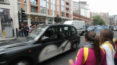 Pedestrians and traffic in London Stock Footage