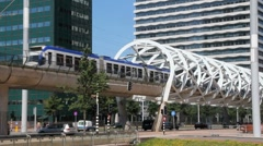 Elevated Railway track in The Hague Stock Footage