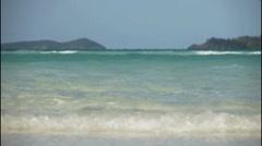 Waves on beautiful sandy beach. Stock Footage