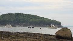 Fishing boats harbor Maine _ 09 Stock Footage