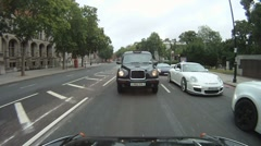 Driving in London onboard cam Stock Footage