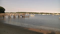 Cape Cod Harbor 2 Stock Footage