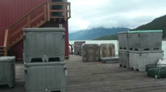 Cannery  loading dock for fish Stock Footage