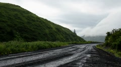 Wet Road Time Lapse Stock Footage