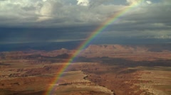 Canyon Lands Rainbow Stock Footage