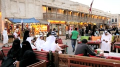 Qatar, Middle East, Arabian Peninsula, Doha, the restored Souq Waqif Stock Footage