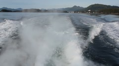 Boat Ride Waves Stock Footage