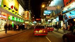 HONG KONG NIGHT DRIVING 1 - stock footage