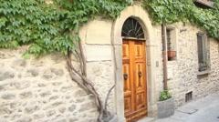 Old Italian front door Stock Footage