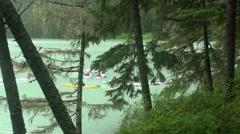 Kayak  lake Chilkoot Stock Footage